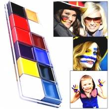 12 Colors Flash Tattoo Face and Body Paint with Brushes