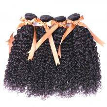 Kinky Brazilian Hair  Bundles With Baby Hair Lace Closure