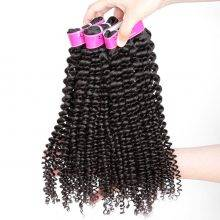 Natural Color Curly Brazilian Hair Weaves