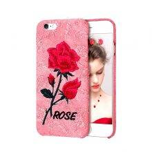 Rose Flower Embroidered Women's Phone Case for iPhone