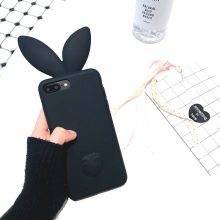 Cute Rabbit Ears Shaped Silicone Phone Case