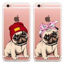 Cute Pug Silicone Phone Case for iPhone